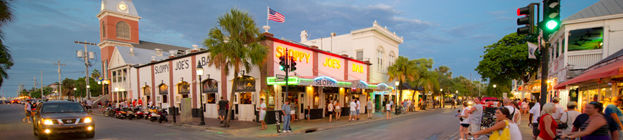 Key West Duval Street in front of Sloppy Joes